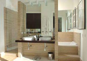 salle de bain en travertin - Salle De Bain Pierre De Travertin