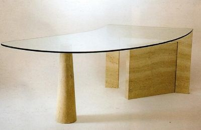 Table de bureau en travertin