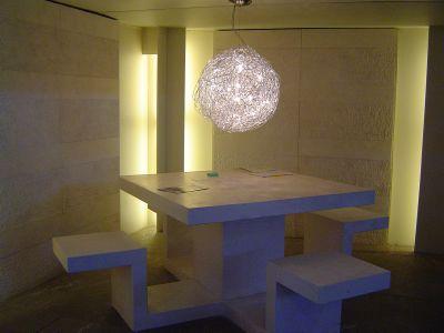 table en marbre beige contemporaine pas cher. Black Bedroom Furniture Sets. Home Design Ideas